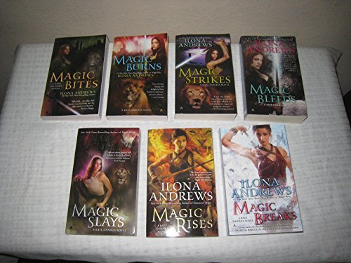 "Image for ""''Books 1-7 of Ilona Andrews Kate Daniels Magic Series (Set Includes: Magic Bites, Magic Burns, Magic Strikes, Magic Bleeds, Magic Slays, Magic Rises and Magic Breaks)''"""