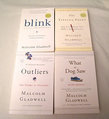 "Image for ""''Malcolm Gladwell 4 Book Set: Blink, Tipping Point, Outliers, What the Dog Saw''"""