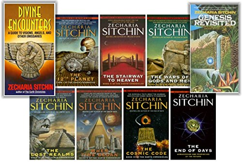 "Image for ""''A Complete Zecharia Sitchin Earth Chronicles Nine-Book Series Set, Includes: Twelfth Planet, Stairway to Heaven, War of Gods and Men, Lost Realms, When Time Began, Cosmic Code, End of Days, Genesis Revisited, and Divine Encounters''"""