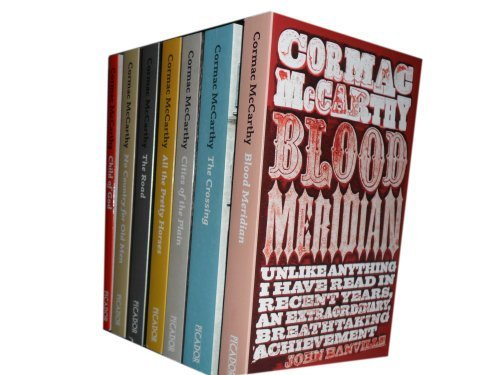 "Image for ""''Cormac McCarthy collection 7 Books set. (Blood Meridian, The crossing, cities of the plain, all the pretty horses, the road, no country for old men & child of god)''"""