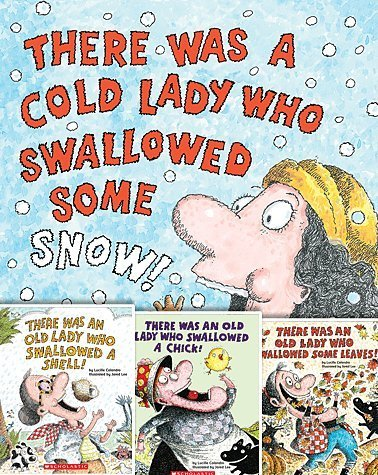 "Image for ""''There Was an Old Lady Set of Four Books By Lucille Colandro Includes There Was a Cold Lady Who Swallowed Some Snow!, There Was an Old Lady Who Swallowed a Shell!, There Was an Old Lady Who Swallowed a Chick!, and There Was an Old Lady Who Swallowed S''"""