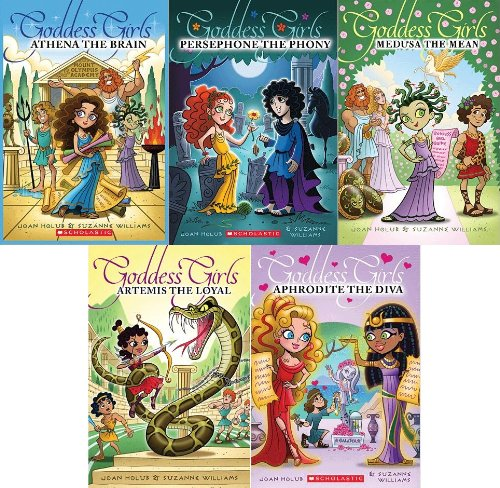 "Image for ""''Goddess Girls 5 Book Boxed Set: Artemis the Loyal, Aphrodite the Diva, Athena the Brain, Persephone the Phony, Medusa the Mean (Goddess Girls, 5 Book Set)''"""