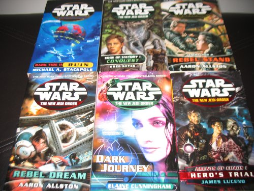 Image for 6 Book Set Star Wars The New Jedi Order~Edge of Victory Conquest/Dark Tide Ruin/Rebel Stand/Rebel Dream/Agents of Chaos Hero's Trial/Dark Journey