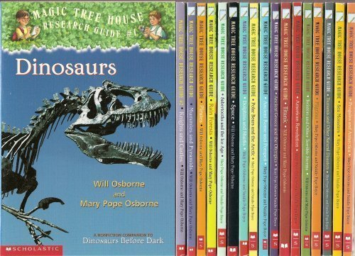 "Image for ""''The Magic Tree House Research Guide 18-Book Set (American Revolution, Ancient Greece and the Olympics, Ancient Rome and Pompeii, Dinosaurs, Dolphins and Sharks, Knights and Castles, Mummies and Pyramids, Penguins and Antarctica, Pilgrims, Pirates, Po''"""
