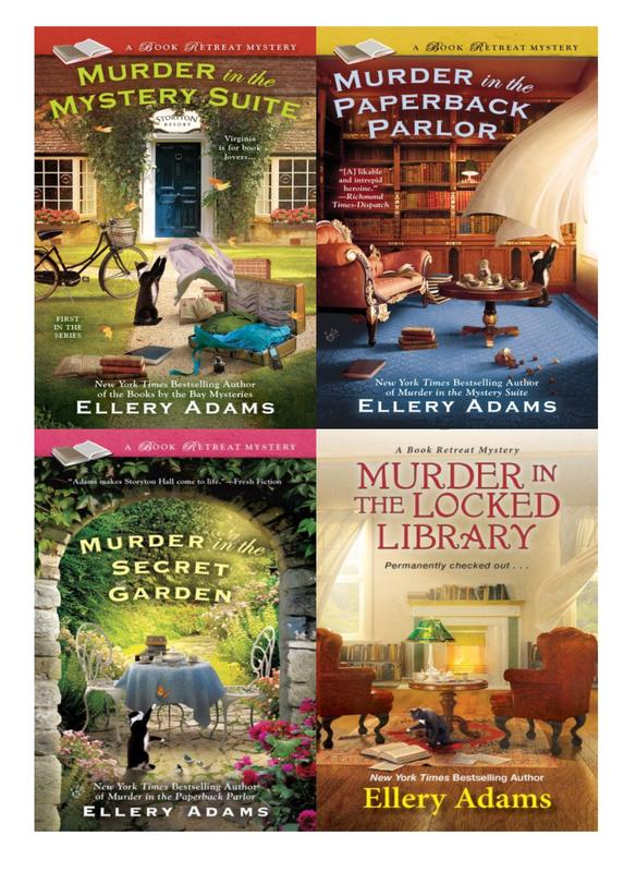 Image for BOOK RETREAT MYSTERIES by Ellery Adams Collection Set of Paperbacks 1-4 by Ellery Adams