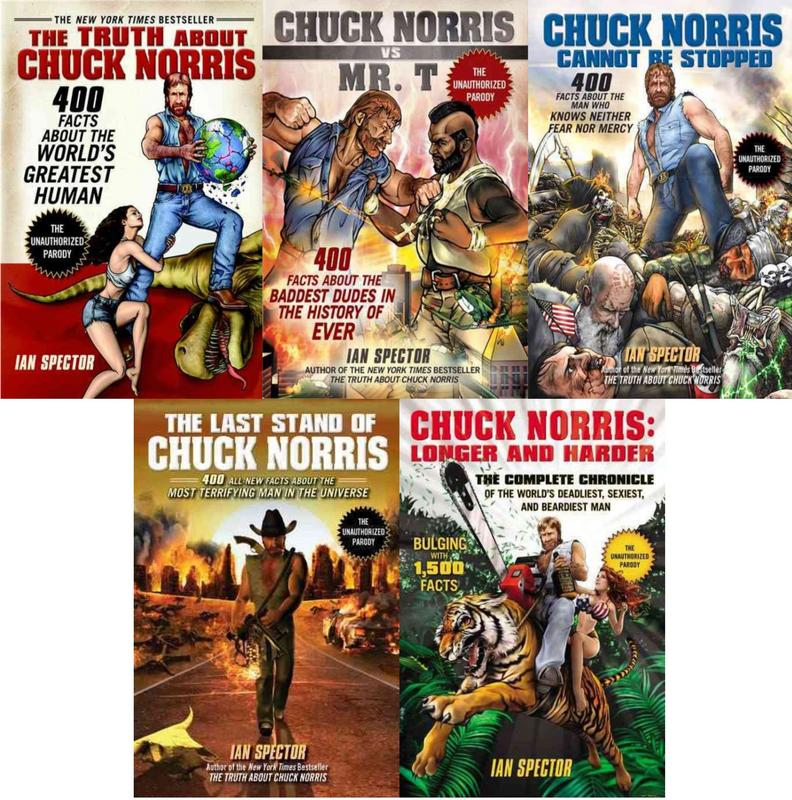 Image for CHUCK NORRIS PARODY COLLECTION Facts & Humor Set of 5 Books by Ian Spector by Ian Spector