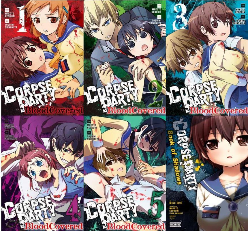Corpse Party Series Manga By Makoto Kedouin Collection Set