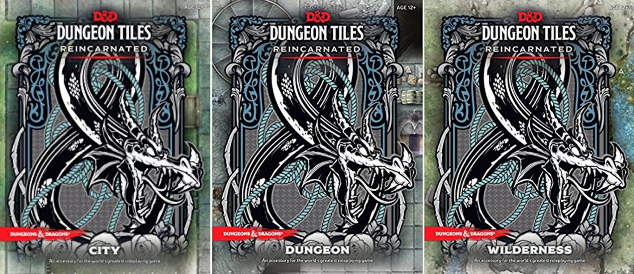 Image for Dungeons & Dragons Dungeon Tiles Reincarnated Set of 3: DUNGEON CITY WILDERNESS by Wizards RPG Team