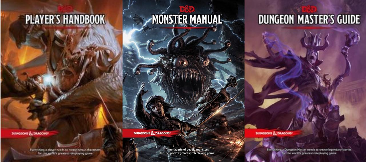 Image for Dungeons & Dragons CORE Rulebook Collection: Player's; Monster; Dungeon Master's by Wizards RPG Team