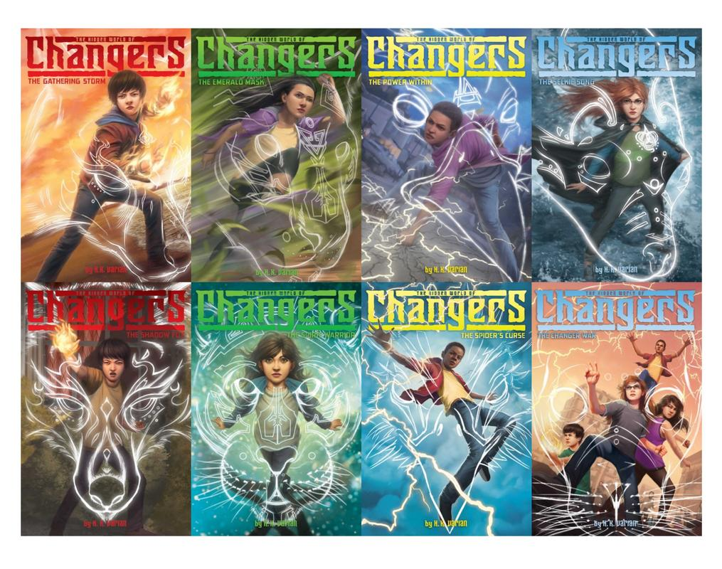 Image for HIDDEN WORLD OF CHANGERS Kids Series by HK Varian Set of PAPERBACK Books 1-8 by H K Varian