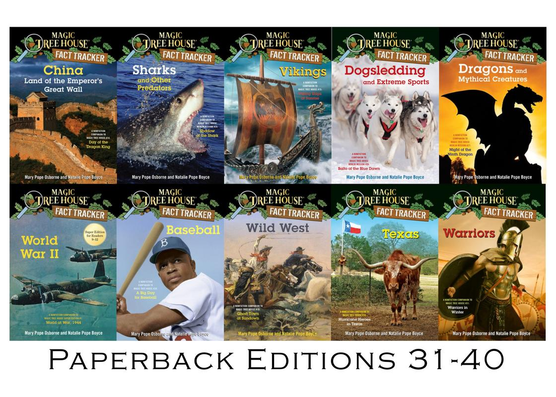 Image for Magic Tree House FACT TRACKERS by Mary Pope Osborne Set of Books 31-40 by Mary Pope Osborne