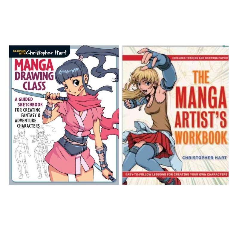 Image for DRAWING CLASS & MANGA ARTIST'S WORKBOOK Guided Sketchbooks by Christopher Hart by Christopher Hart