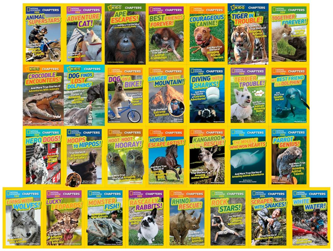 Image for National Geographic CHAPTER Book Collection Set of 29 PAPERBACK Titles by National Geographic Kids