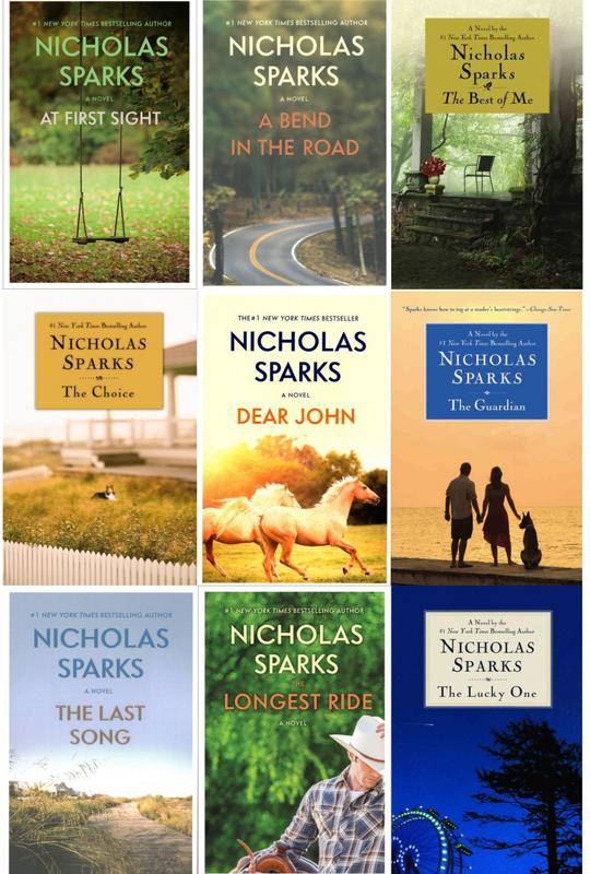 Image for Nicholas Sparks LARGE TRADE PAPERBACK Collection Set of Romanitic Titles 1-9 by Nicholas Sparks