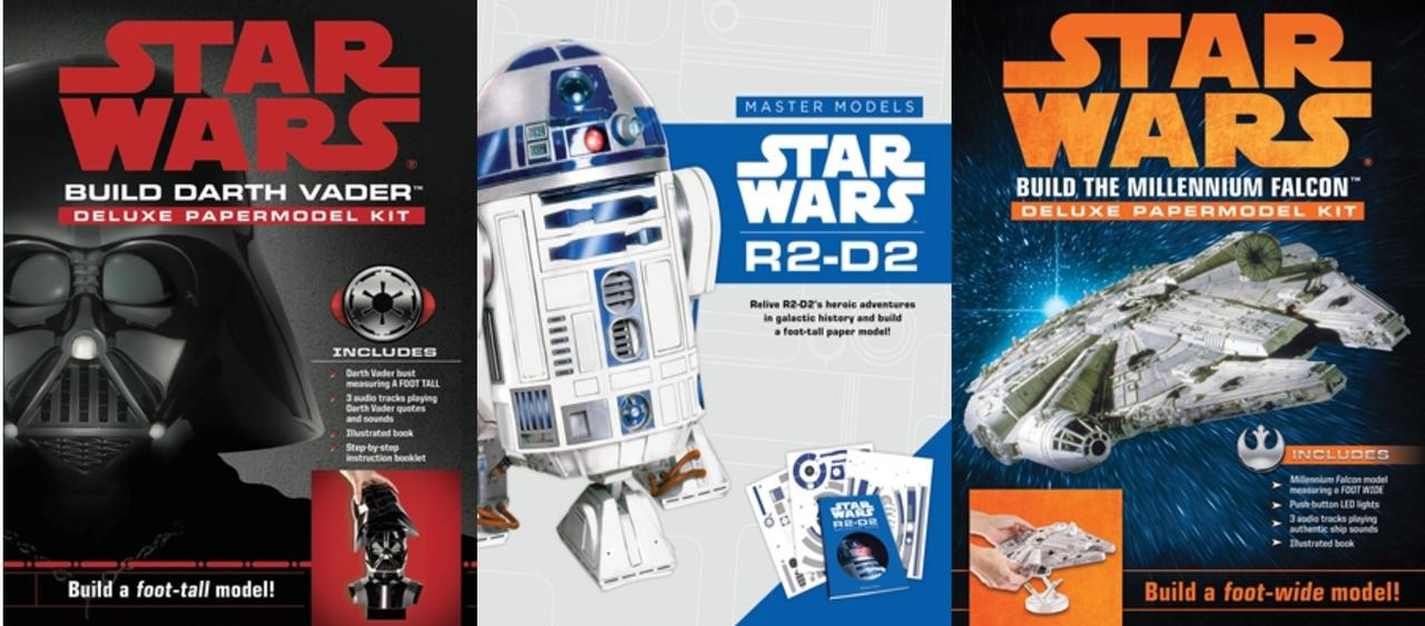 "Image for ""STAR WARS Model Kit Collection of 3 BUILD R2D2, DARTH VADER & MILLENNIUM FALCON! by Benjamin Harper"""