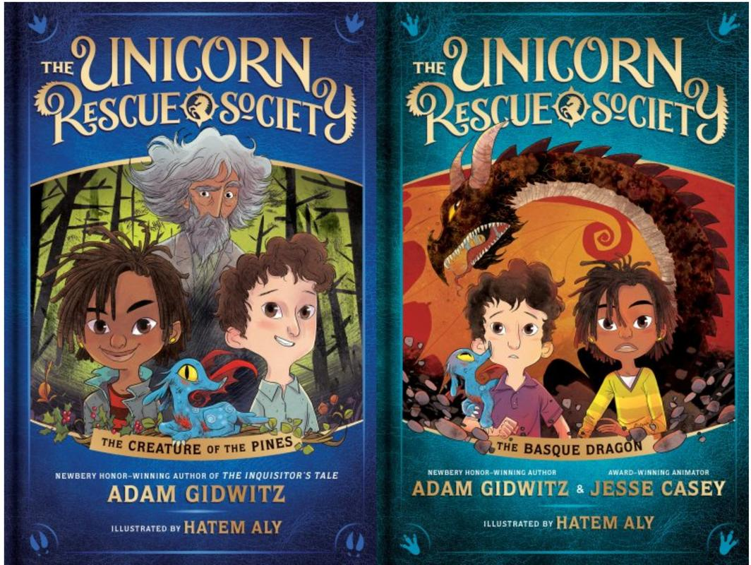 Image for THE UNICORN RESCUE SOCIETY Childrens Series by Adam Gidwitz HARDCOVER Set 1-2 by Adam Gidwitz