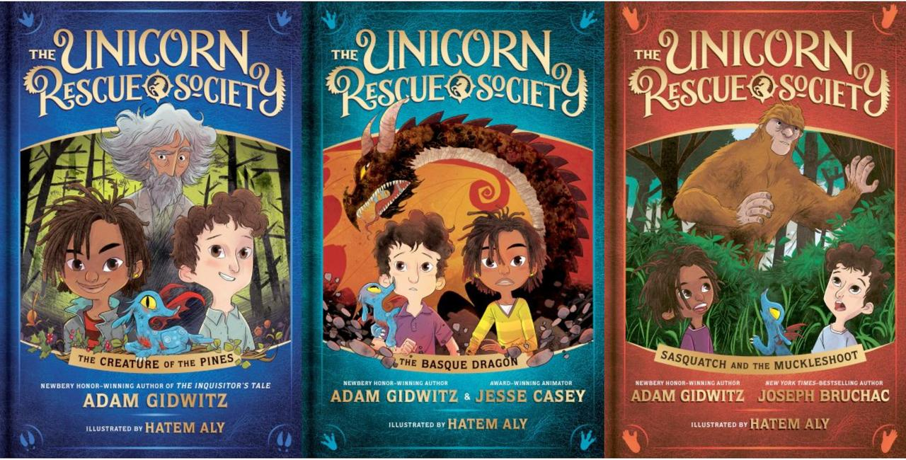 Image for UNICORN RESCUE SOCIETY Series by Adam Gidwitz HARDCOVER Set of Books 1-3 by Adam Gidwitz